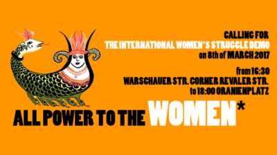 8th March International Women*s Struggle Demo Berlin