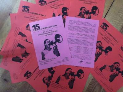 Women breaking borders Conference flyer